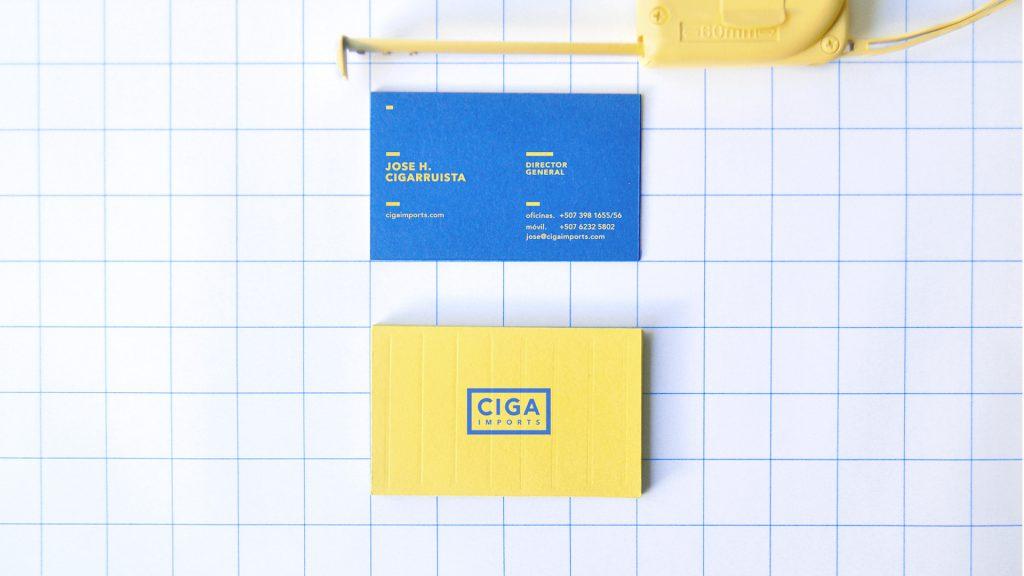 Ciga Imports Branding Bussines Cards