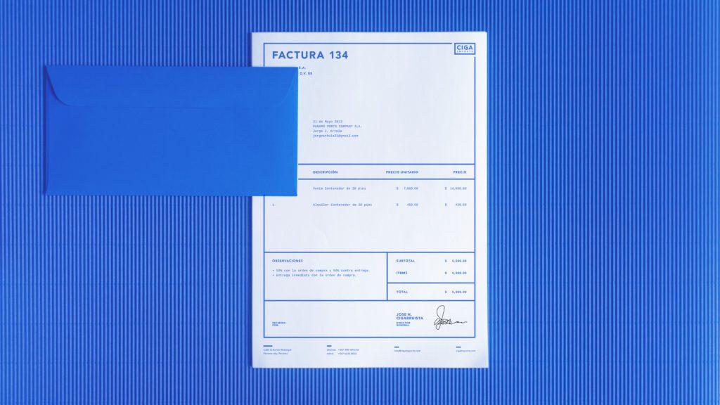 Ciga Imports Branding Invoices