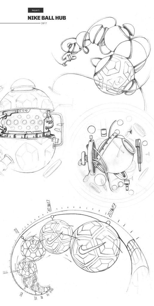 Nike Ball Hub Keyart Sketch 01