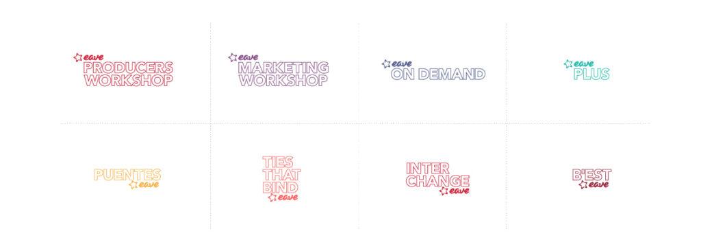 eave rebrand workshop logos