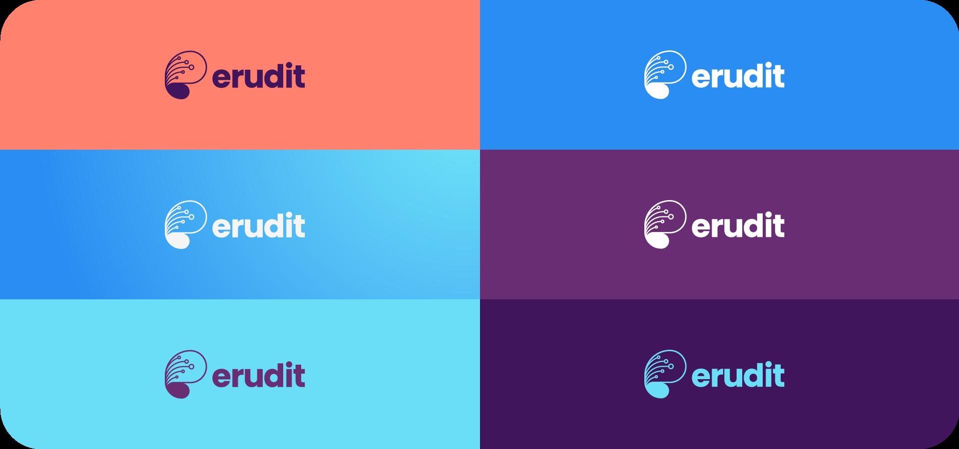 erudit logo color variations
