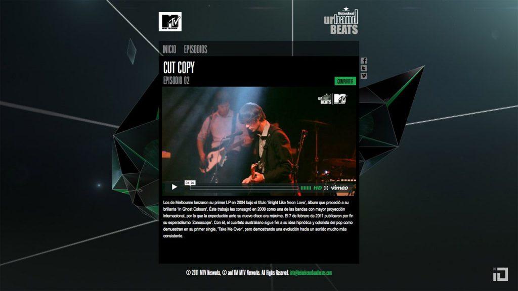 MTV Heinneken Urband Beats Microsite 01