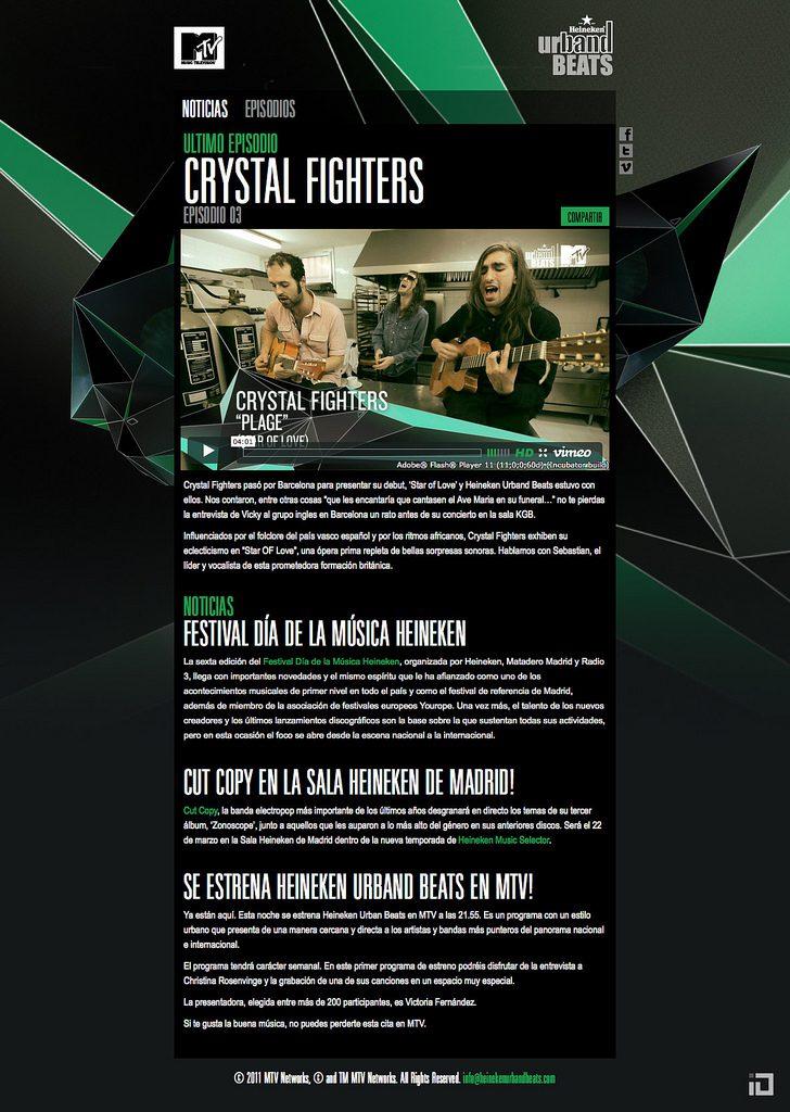 MTV Heinneken Urband Beats Microsite 03