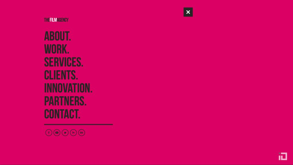 The Film Agency Website Menu
